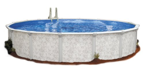 Embassy Pool 4-2412 PARA101 Above Ground Swimming Pool, 24-Feet by 12-Feet by 52-Inch, Silver Tone