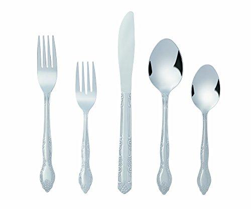 Bon Flora 20-Piece Stainless Steel Flatware Silverware Cutlery Set Include KnifeForkSpoon Dishwasher Safe Service for 4