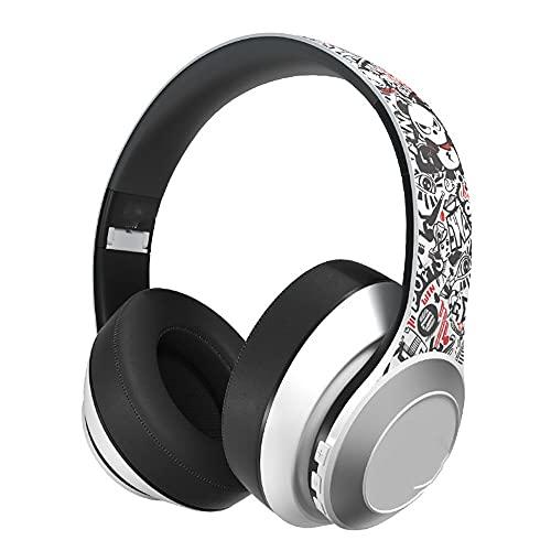 ysgbaba Auricular Bluetooth inalámbrico 5.0 Música Luminoso Auriculares Ordenar Teléfono Móvil Auriculares Deportes Corriendo Auriculares Bajo Pesado (Color : White)