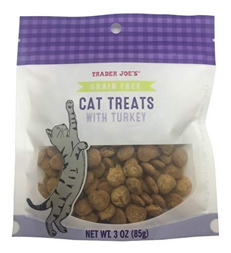 Trader Joe's Grain-Free Cat Treats with Turkey, 3 Ounces (85 Grams)