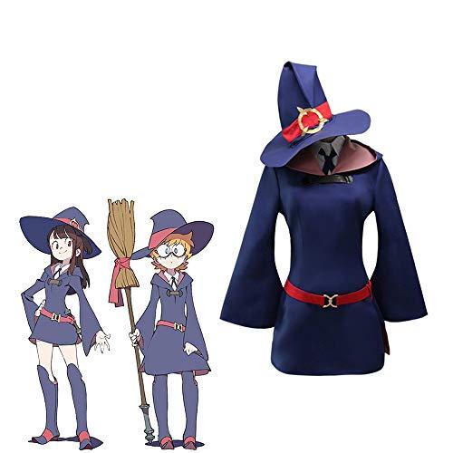 LuBHnna Little Witch Academia Disfraz de Cosplay, atsuko kagari/sucy manbavaran/Profesora Ursula/Diana Cavendish Disfraz de Fiesta de Halloween
