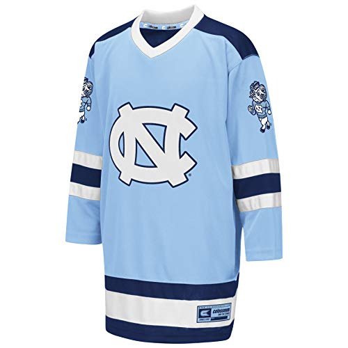 Colosseum NCAA Youth Boys Athletic Machine Hockey Sweater Jersey-North Carolina Tar Heels-Youth Large