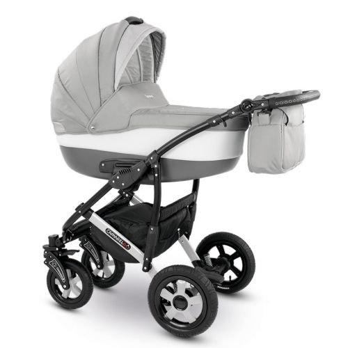 Camarelo CARERA 3in1 mit Babyschale, Kombikinderwagen - Kinderwagen - Buggy Farbe XCA-2 hellgrau/dunkelgrau