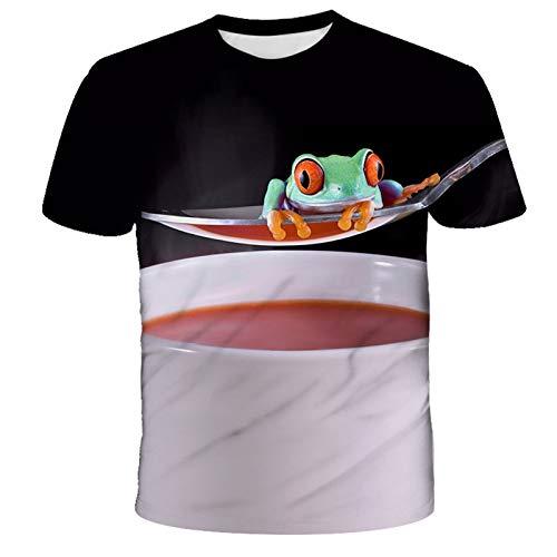 ZHUOYU Camisetas con una variedad de patrones de colores, adecuadas para adultos y niños, tecnología de impresión 3D, suave y lisa, multicolor, regalo de cumpleaños (B,L).