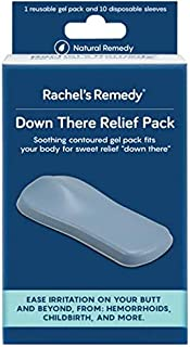 Rachel's Remedy Down There Relief Pack, hemorrhoid Treatment, ice Pack, Reusable Gel pad/Perineum icepack, Postpartum Care, Recovery, Fissure Relief