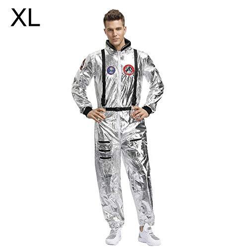 Cuttey Astronaut Spaceman Kostüm Cosplay Overall Tuch für Halloween Weihnachten Neujahr Dekoration für Männer Frauen clever