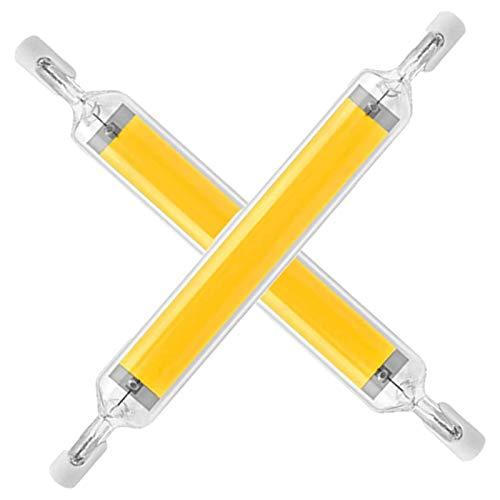 MJLXY R7s LED Lampe 20W 118Mm Dimmbar Linear Licht R7S LED Glühbirnen,Für Landschaftsleuchten Sicherheitsleuchten,2 STK,Warm White