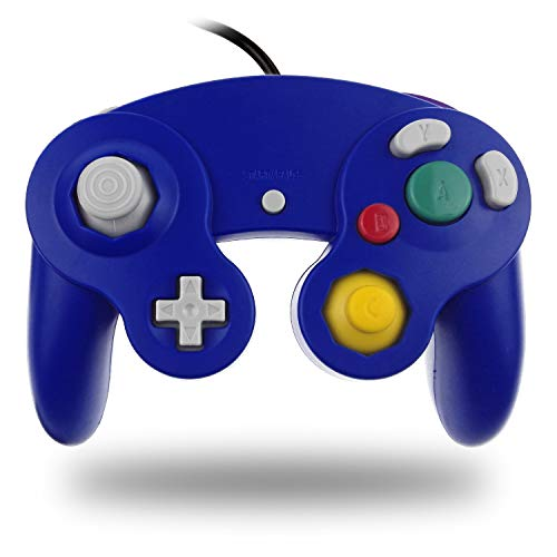 TechKen Gamecube Controller Joystick für Wii Wired Game Controller Joypad Dual Vibration NGC Gamepad Game Cube Original Controller Gamecube Spiele für GC (Blue)