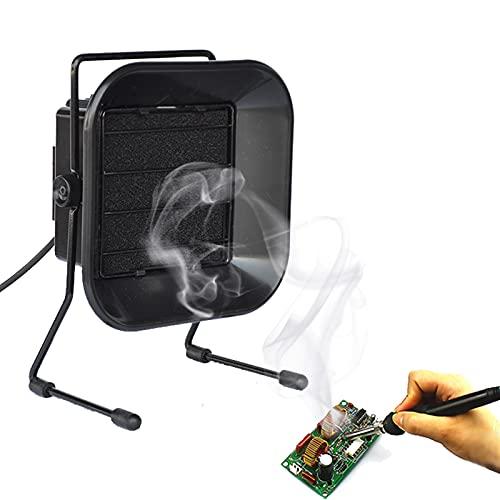 FRIBLSKEL Solder Smoke Absorber Fume Extractor Fan, Soldering Iron Smoke Low Noise Absorber Fast Filtering, Smoke Absorber Fan Solder Adjustable Angle for Welding