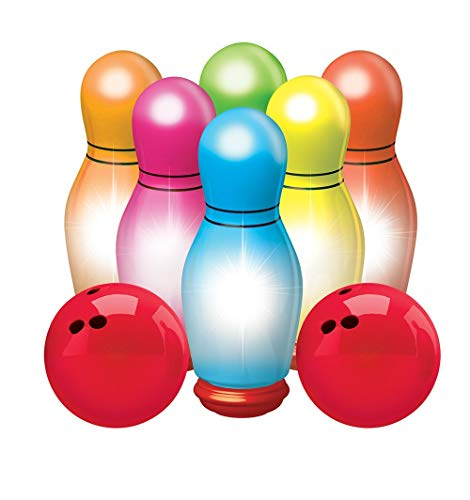 ANG Light Bowling Set for Kids / Sports Toys for Kids/Includes 6 Lighted pins & Balls / Flashing Lights Bowling Alley /Multi Color Toys for Kids