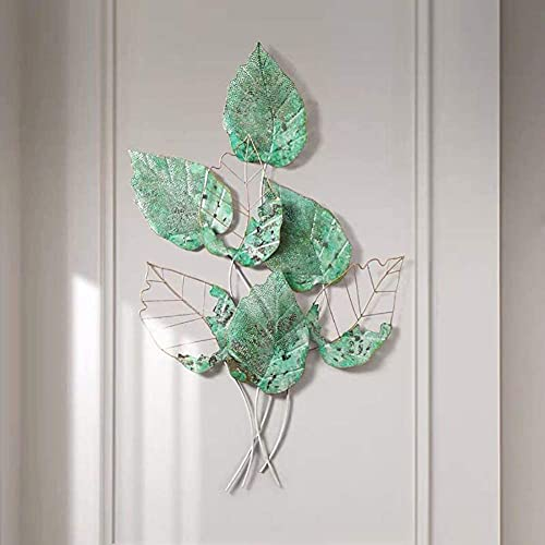 RuBao Creative Contemporary Artwork Ornament, Large Nature Art Decorative Metal Wall-Mounted Sculpture Home Office Decoration Bedroom Living Room Sculpture