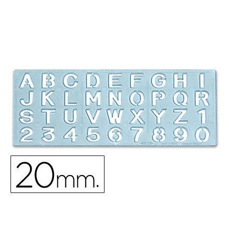CSP 1595 - Plantilla rotulación letras y números de 20 mm