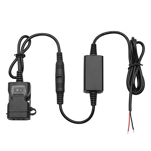 Accesorios de coche Adaptador de cargador USB doble a prueba de agua de la motocicleta 3.1A con interruptor Abrazadera de manillar de motocicleta for cargador de teléfono Para auto ( Color : Black )
