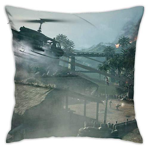Butlerame Throw Pillow Cover Helicopter Smoke House Bed Sofá Funda de Almohada Almohada para Dormir Cojín Suave 18 'X 18' PLW-3036