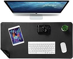 Knodel skrivbordsmatta, kontorsskrivbordsdyna, 40 cm x 80 cm PU-läder skrivbordsblotter, laptop skrivbordsmatta,...