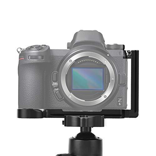 Goshyda Piastra a sgancio rapido, Supporto a Staffa Verticale a L in Lega di Alluminio Piastra a sgancio rapido per Fotocamera mirrorless Nikon Z6 Z7(Nero)