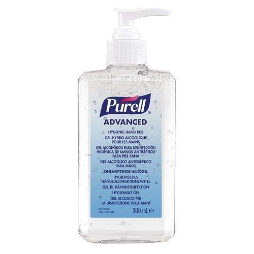 PURELL Advanced Hygienic Hand Rub - Gel disinfettante per mani, 300 ml, in bottiglia con erogatore a pompa, 9263-12-EEU00