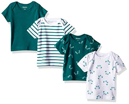 Hanes Ultimate Baby Flexy 4 Pack Short Sleeve Crew Tees, Greens