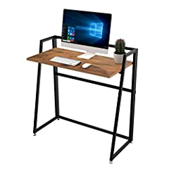 【POPULAR GIFT OPTION】: The writing computer desk comes fully assembled and can be set up in seconds right out of the box. 【FOLDABLE AND PORTABLE】When not in use can be folded in the corner to save space; Also convenient to carry when going out for a ...