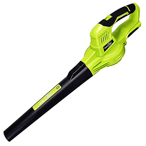 Leaf Blower - 20V Cordless Leaf Blower Green Without Battery & Charger; Electric Leaf Blower for Lawn Care; Handheld Leaf Blower (Battery & Charger are NOT Included)