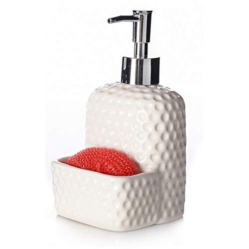 Home Line Dispensador de jabón para Cocina de cerámica - Blanco