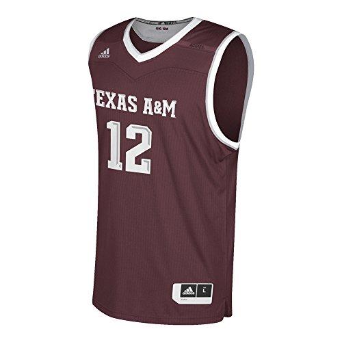 adidas Men's Replica Basketball Jersey, Maroon, Medium