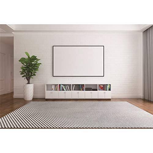 CSFOTO 8x6ft Living Room Backdrop Video Conferencing Background Interior Room Decor Classic Style Plant Bookshelf Interior Decor Office Background for Photography Online Meeting Decor Supplies