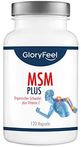 GloryFeel® MSM Kapseln Intensiv 1.600-1600mg Organischer Schwefel Pulver pro Tagesdosis - 120 Vegane Kapsel - Laborgeprüft und ohne unerwünschte Zusätze hergestellt in Deutschland