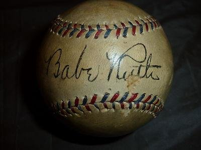 Autographed Babe Ruth Baseball - *oal* Sweetspot Single - PSA/DNA Certified - Autographed Baseballs