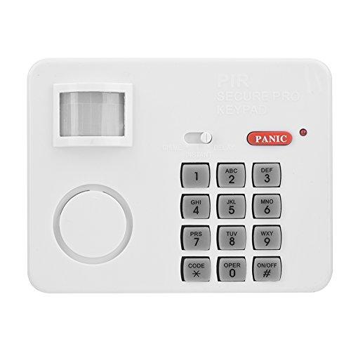 Richer-R Alarma Inalámbrica con Sensor de Movimiento PIR,105dB Alarma de Seguridad Antirrobo,Distancia de 3-5 Metros/ángulo de 105 Grados(Blanco)