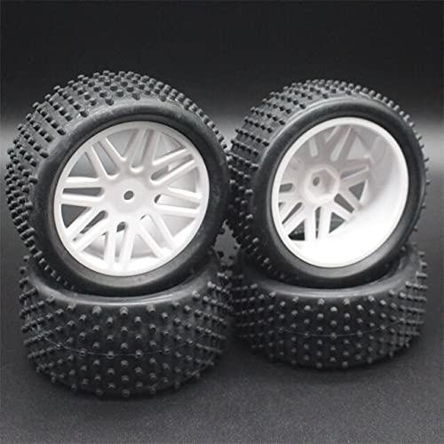 MZWNQ 3 uds para neumáticos y Ruedas de Coche Todoterreno a Escala RC 1/10 para HSP 93166/93107/93106 ( Color : White )