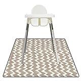 Luckits Alfombrilla para derrames para bebés, Alfombrilla impermeable para bebé Splat para debajo de la silla alta, Alfombrilla reutilizable lavable contra salpicaduras Alfombrilla de juego