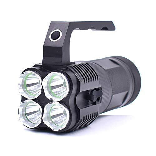 Lampe de Poche Militaire Tactique compacte Ultra Lumineuse LED Torche étanche 3 Modes de Camping Portables 18650 Chargeur de Batterie Rechargeable, 2400 lumens éclairant 500 mètres, adapté pour: r