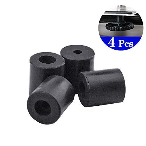 cococity 4 Stück 3D-Drucker-Wärmebett-Silikon-Nivellierung, Silikon Isolierte Dämpfer Puffer Tube Unit für Anet A8 Wanhao D9 Anycubic Mega, Schwarz