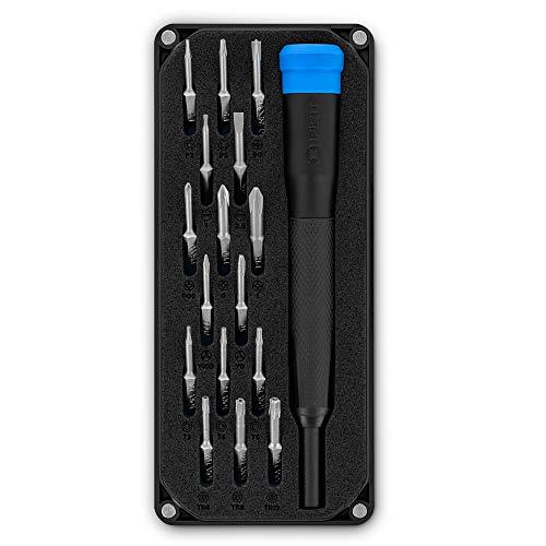 iFixit Minnow Precision Bit Set, práctico juego de puntas para llevar con 16 puntas de precisión (4 mm) y mango destornillador para reparar