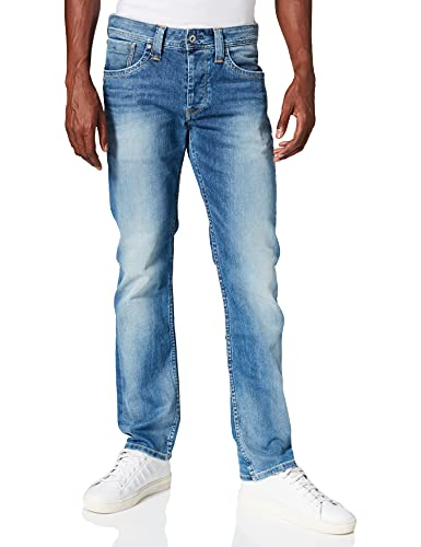 Pepe Jeans London Cash, Vaqueros para Hombre, Azul (11Oz Streaky Vintage Used M84), W32/L32