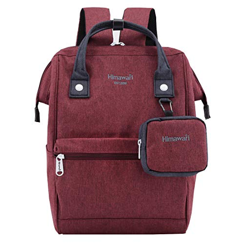Himawari Travel Laptop Backpack for Men Women, Huge Capacity 15.6'' Computer Notebook Bag for School College Students(Burgundy)