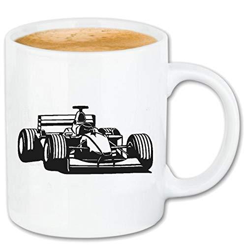 Reifen-Markt Kaffeetasse Formel 1 - Schumacher - Rennsport - DTM - TOURENWAGEN Keramik 330 ml in Weiß