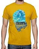 latostadora - Camiseta Buen Día para Cocinar para Hombre Amarillo Mostaza M