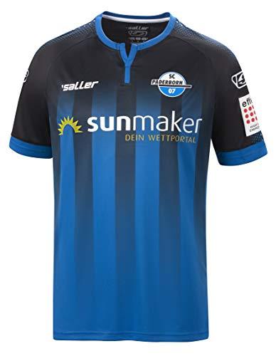 Saller SC Paderborn Heimtrikot 2019/2020 schwarz-blau Größe XXL