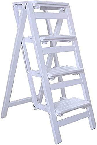 Escaleras portátiles ligeras, escaleras de escalera plegables, taburetes de escaleras portátiles, sillas de comedor, taburetes de madera para niños y adultos, herramientas de jardinería.Puede sostener
