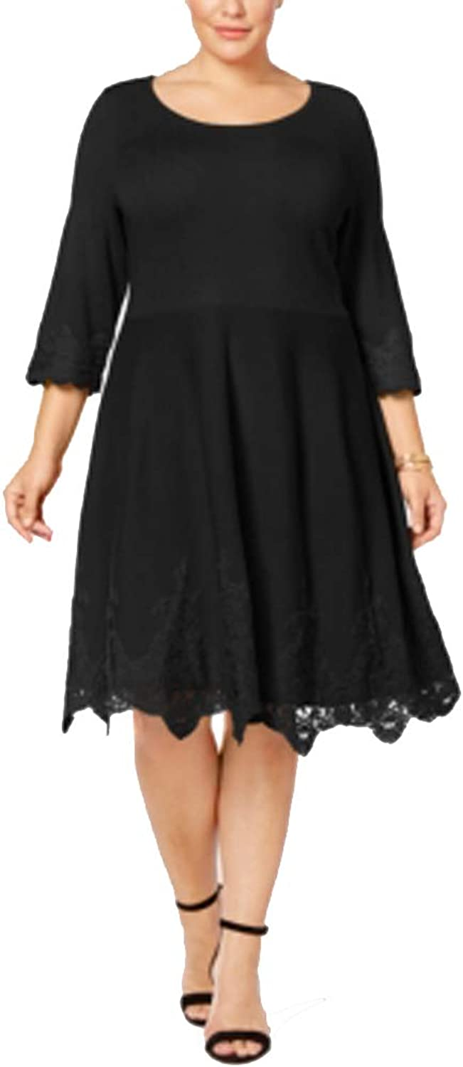 Charter Club Plus Size LaceHem Sweater Dress