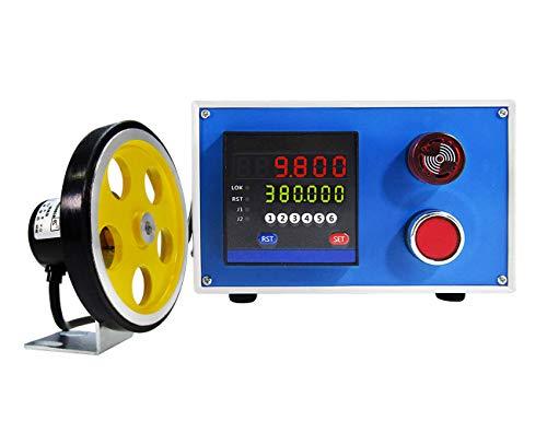 YJINGRUI Digital Längenzähler Meterzähler mit Rotary Encoder Radrolle 0-999999 Längenmesser Zähler