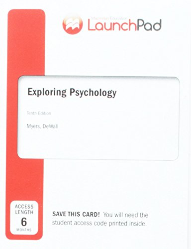 LaunchPad for Myers' Exploring Psychology (Six-Months Access)