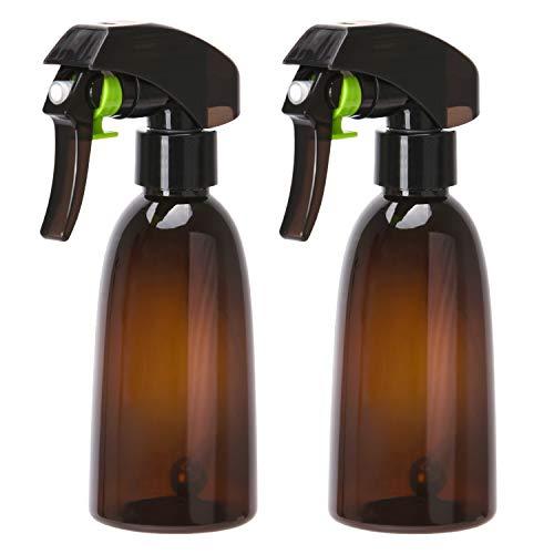 Noverlife Flacone Spray ambrato a Nebbia fine da 200 ml 7 Once per Parrucchiere Barbiere, Spray a grilletto a 360 ° con Sfera d Acciaio, atomizzatore d Acqua in plastica Flairosol Spritz