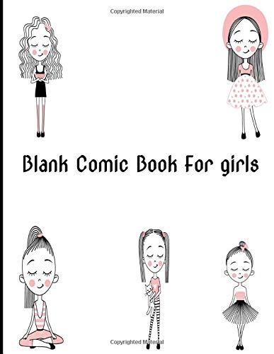 Blank Comic Book For girls: comic book sleeves ,walking dead comic book complete set, cat kid comic club book 2, Create Your Own Comics With This Comic Book Journal Notebook
