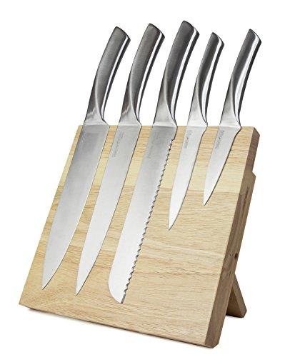 Messer-Halterung silber f/ür die K/üche Aufbewahrungsl/ösung Magnetleiste f/ür Messer Gro/ß 56/cm magnetische Messerleiste