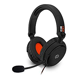 40mm speaker drivers flexible mic with pop filter Soft foam cushioning tilt & twist ear cups (fold flat when not in use) durable braided cable game/chat volume control with mute Adjustable headband Lightweight design