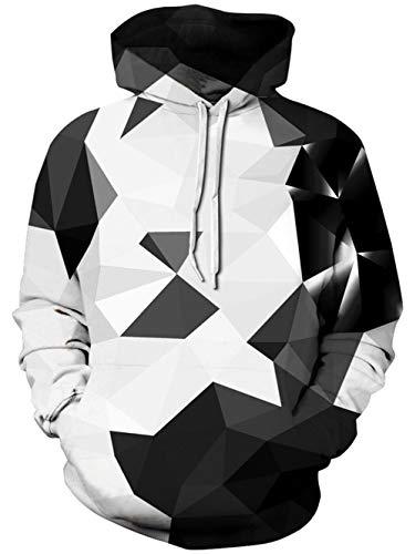 TUONROAD Hoodie Hombre Funny 3D Sudaderas con Capucha Unisex Sweatshirt Manga Larga Sweater Hoody con Bolsillos Cordón L