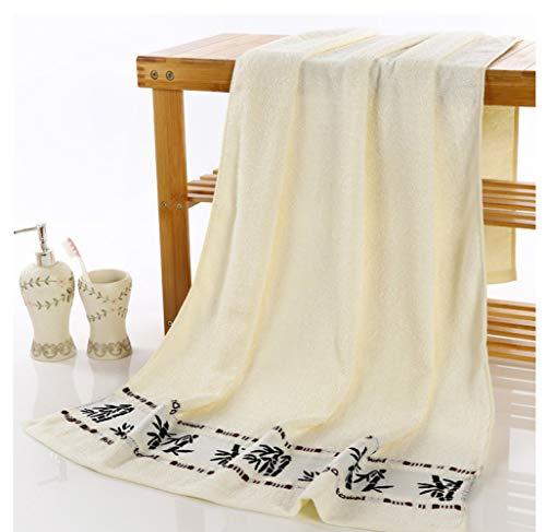 LXX Bath Towels,1Pcs Black Ink Bamboo Jacquard Width Break Thick Towel Soft Best Value Towels for Bathroom G/B/S